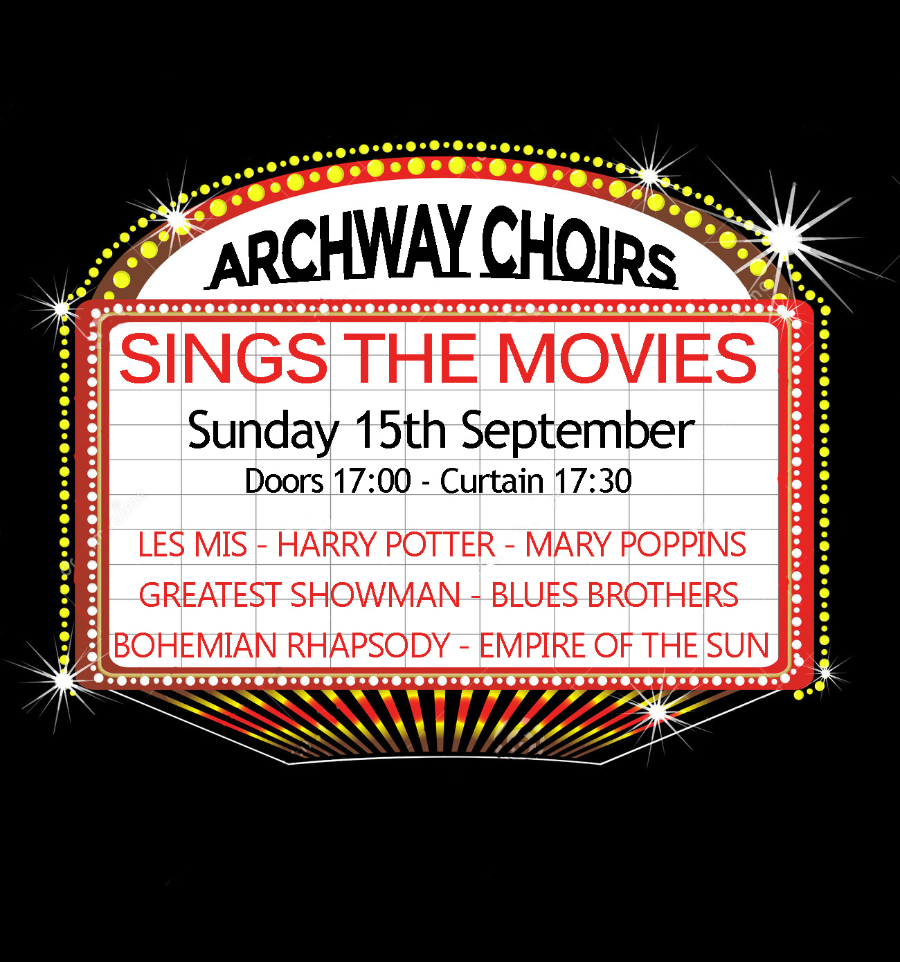 Archway Choirs Sing the Movies
